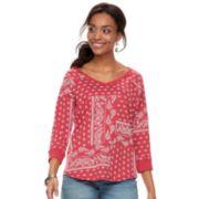 Women's SONOMA Goods for Life? Drop Sleeve V-Neck Sweatshirt