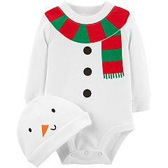 Baby Carter's Snowman Graphic Bodysuit & Hat Set