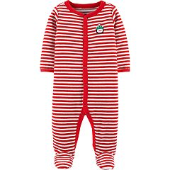 Baby Carter's Striped Velour Sleep & Play