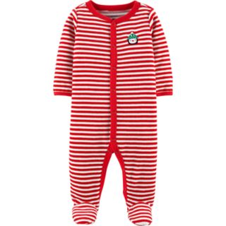 Baby Carter's Striped Velour Sleep & Play