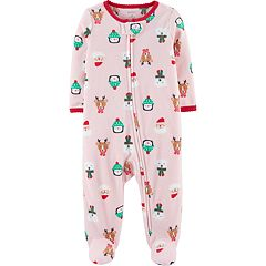 Baby Girl Carter's Holiday Fleece Sleep & Play