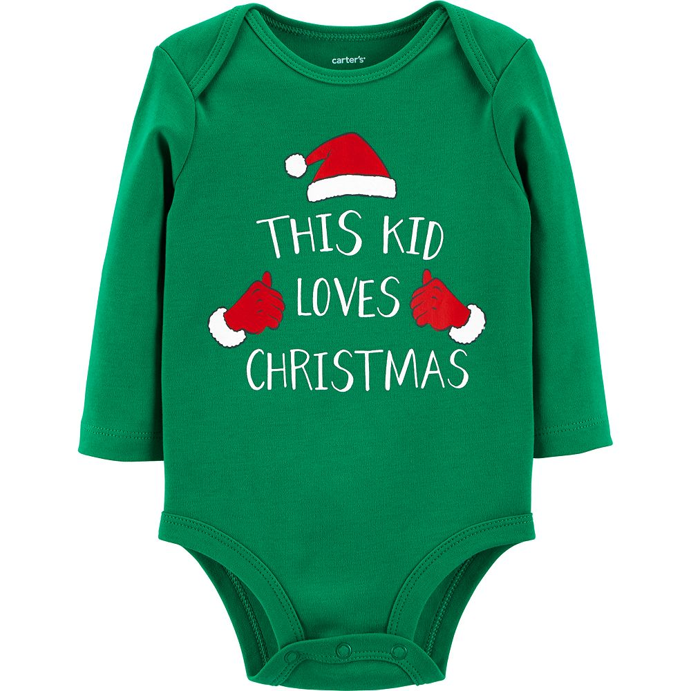 "Baby Carter's ""This Kid Loves Christmas"" Graphic Bodysuit"