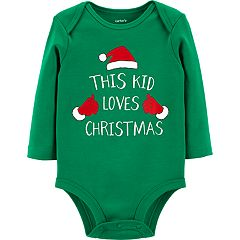 Baby Carter's 'This Kid Loves Christmas' Graphic Bodysuit
