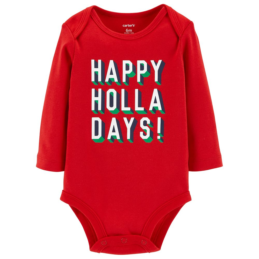 "Baby Carter's ""Happy Holla Days!"" Graphic Bodysuit"