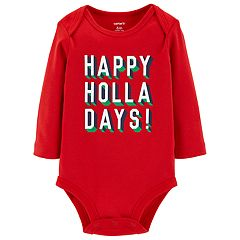 Baby Carter's 'Happy Holla Days!' Graphic Bodysuit