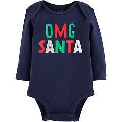 Baby Carter's 'OMG SANTA' Graphic Bodysuit