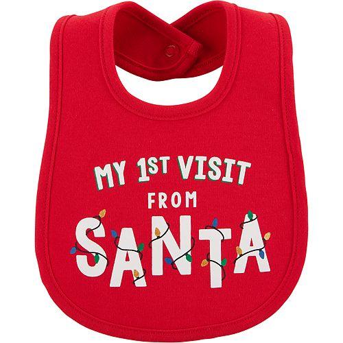 "Baby Carter's ""My 1st Visit From Santa"" Bib"