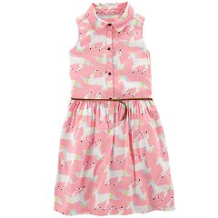 Girls 4-14 Carter's Unicorn Button-Front Dress