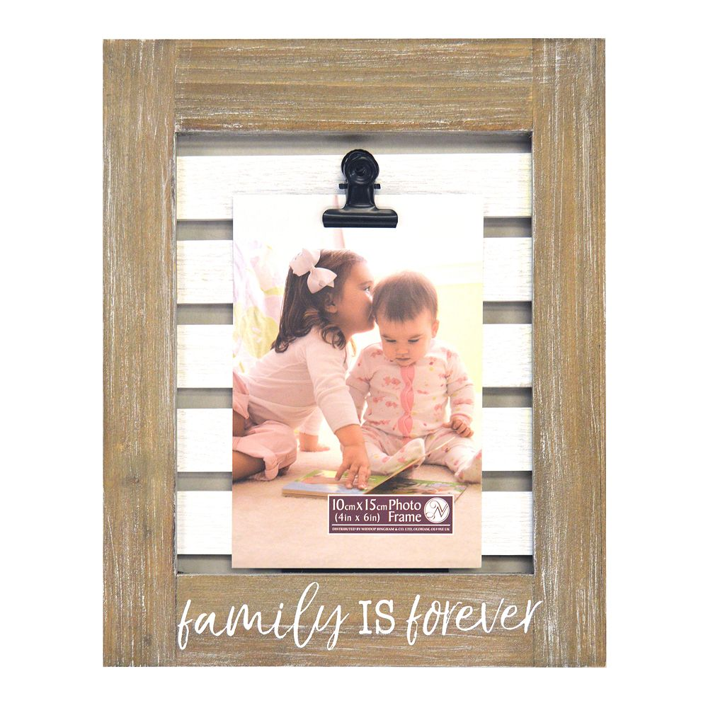 """New View """"Family Is Forever"""" Photo Clip 4"""" x 6"""" Frame"""