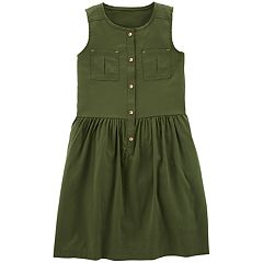 Girls 4-14 Carter's Shirred Button-Front Dress