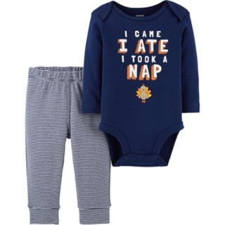 Baby Boy Carter's Thanksgiving Bodysuit & Striped Pants Set