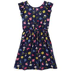 Girls 4-14 Carter's Floral Bow-Back Dress