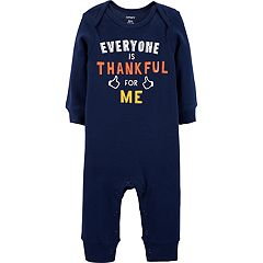 Baby Boy Carter's 'Everyone is Thankful for Me' Coveralls