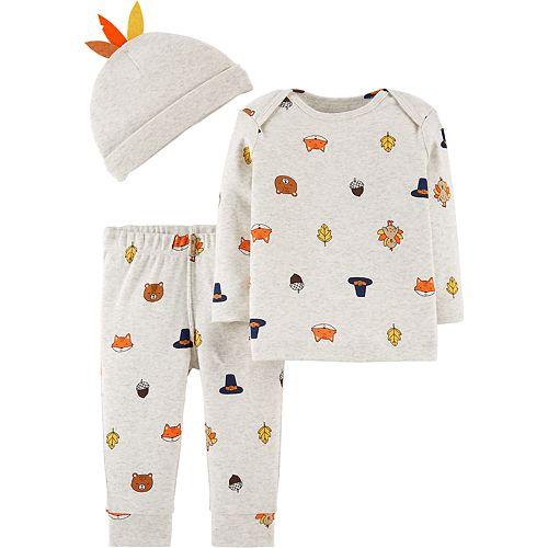 Baby Carter's Thanksgiving Top, Pants & Hat Set