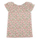 Girls 4-14 Carter's Floral Ruffle Top