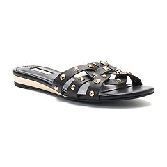 Jennifer Lopez Ginko Women's Strappy Studded Slide Sandals