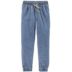 Girls 4-12 Carter's Chambray Jogger Pants
