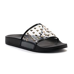 Jennifer Lopez Bodhi Women's Studded Slide Sandals