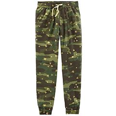 Girls 4-12 Carter's Camo Heart-Print Jogger Pants