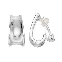 Dana Buchman J-Hoop Clip-On Earrings