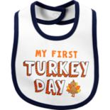 "Baby Carter's ""My First Turkey Day"" Bib"