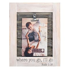 New View 'Where You Go I'll Go' Photo Clip 4' x 6' Frame