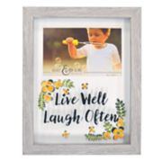 "New View ""Live Well Laugh Often"" Shadowbox 4"" x 6"" Frame"