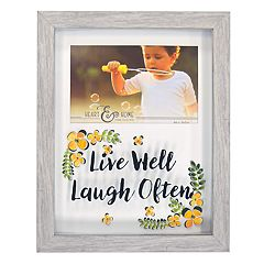 New View 'Live Well Laugh Often' Shadowbox 4' x 6' Frame