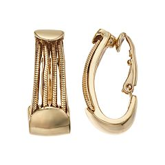 Dana Buchman Chain Clip-On U-Hoop Earrings