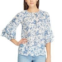 Women's Chaps Paisley Tiered-Sleeve Top