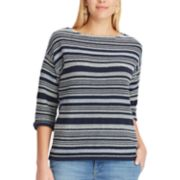 Women's Chaps Striped Crewneck Sweater