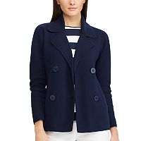 Women's Chaps Combed Cotton Sweater Blazer