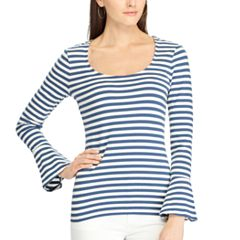 Women's Chaps Striped Bell-Sleeve Top