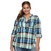Plus Size French Laundry Plaid Tunic Top