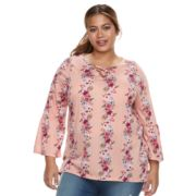 Plus Size French Laundry Lace-Up Top