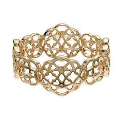 Dana Buchman Openwork Geometric Stretch Bracelet