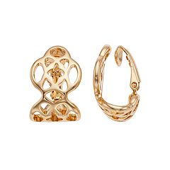 Dana Buchman Openwork Geometric Clip-On Earrings