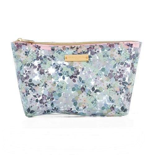 Adrienne Vittadini 3-pc. Clear Floral Print Cosmetic Bag