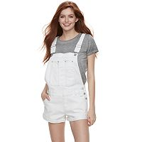 Juniors' Unionbay Rayna Destructed Jean Shortalls