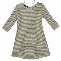 Girls 7-16 IZ Amy Byer Striped Shift Dress with Necklace