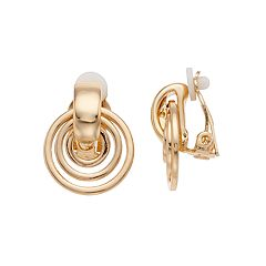 Dana Buchman Doorknocker Clip-On Earrings