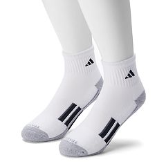 Men's adidas 2-pack Climalite Cushioned Traxion Quarter Socks