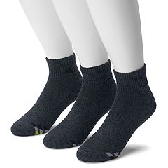 Men's adidas 3-pack Climalite Cushioned Compression Quarter Socks