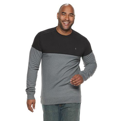Big & Tall IZOD Advantage SportFlex Performance Colorblock Stretch Fleece Raglan Sweatshirt