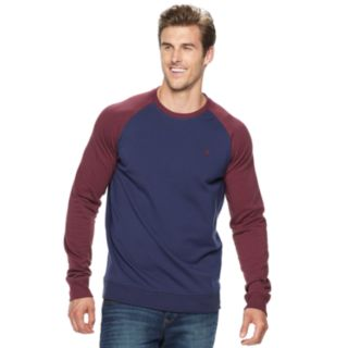 Big & Tall IZOD Advantage Performance Stretch Raglan Fleece Crewneck Tee