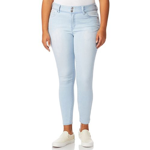 Juniors' Plus Size Wallflower Insta Soft Skinny Jeans