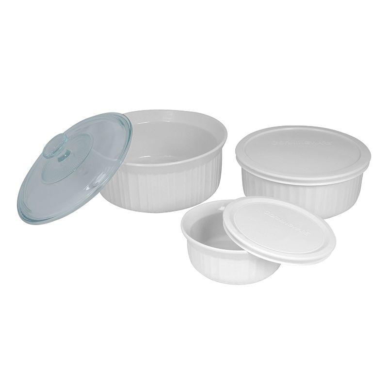 Corningware French White 6 Pc Set Shop Your Way Online