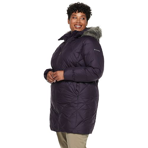 3dad5a3fa86 Plus Size Columbia Icy Heights II Hooded Mid-Length Down Jacket
