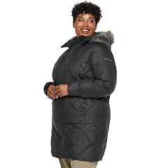 Plus Size Columbia Icy Heights II Hooded Mid-Length Down Jacket