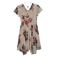 Girls 7-16 IZ Amy Byer Floral Fit & Flare Handkerchief Hem Dress with Necklace